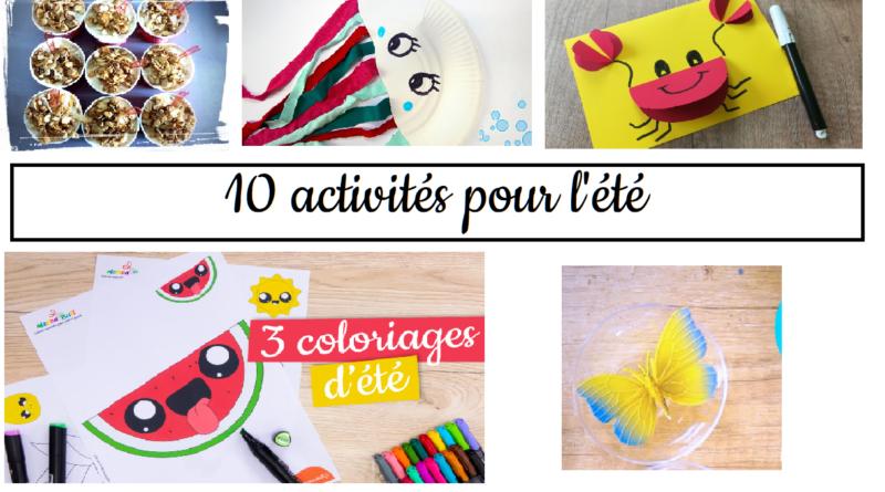 10 activités pour t'occuper pendant les vacances d'été