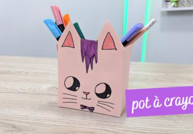 Fabriquer un pot à crayons avec une brique de lait