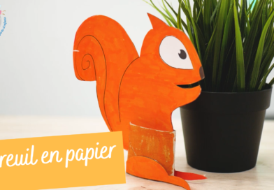 Activité manuelle : écureuil en papier et rouleau en carton