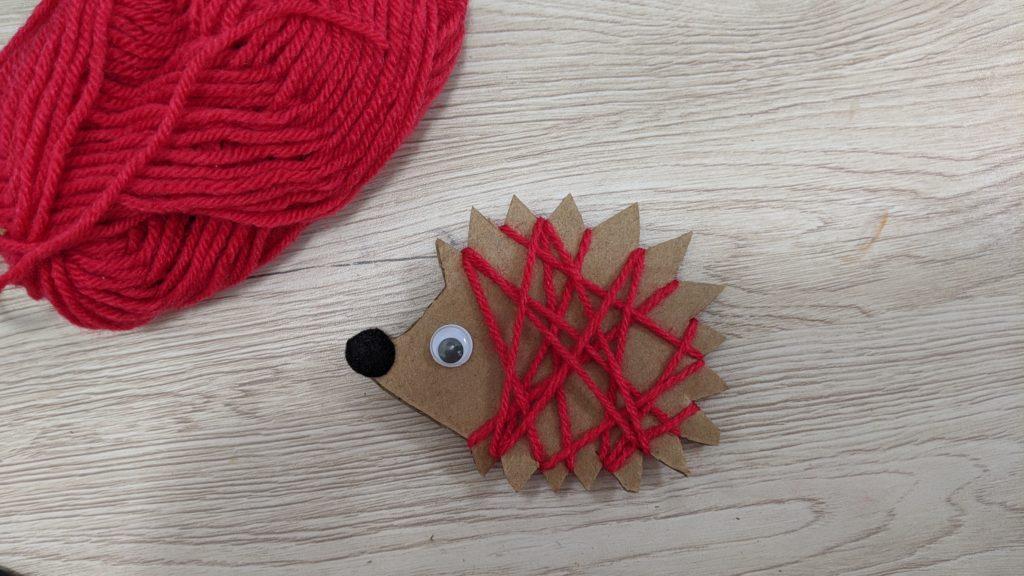 Activité d'automne : hérisson laine et c'est fini