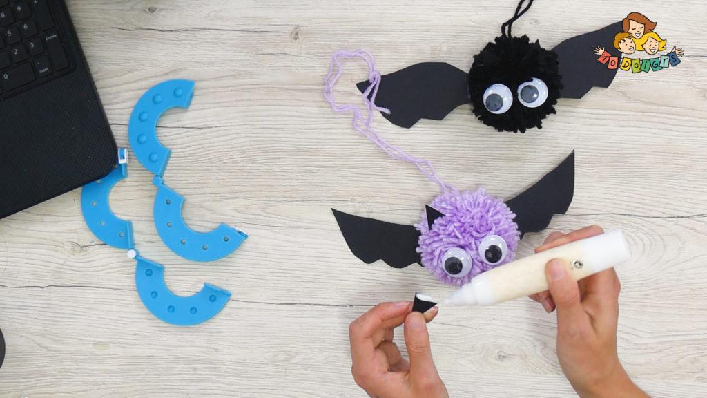 3 activités manuelles d'halloween avec 10 doigts : chauve souris