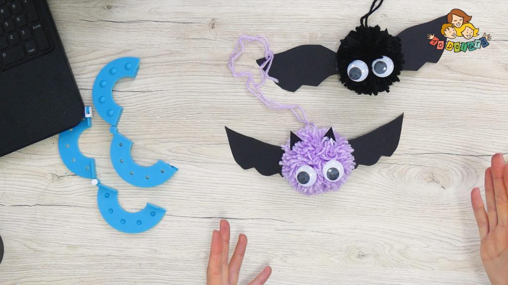 3 activités manuelles d'halloween avec 10 doigts chauve souris