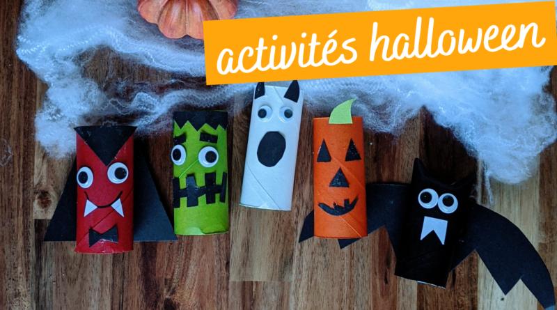 5 activités d'halloween avec des rouleaux en carton