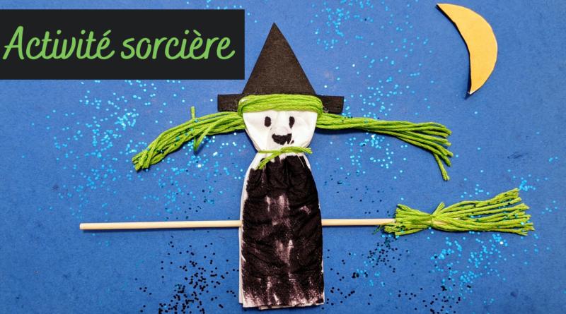 Activité Halloween : sorcière en mouchoir