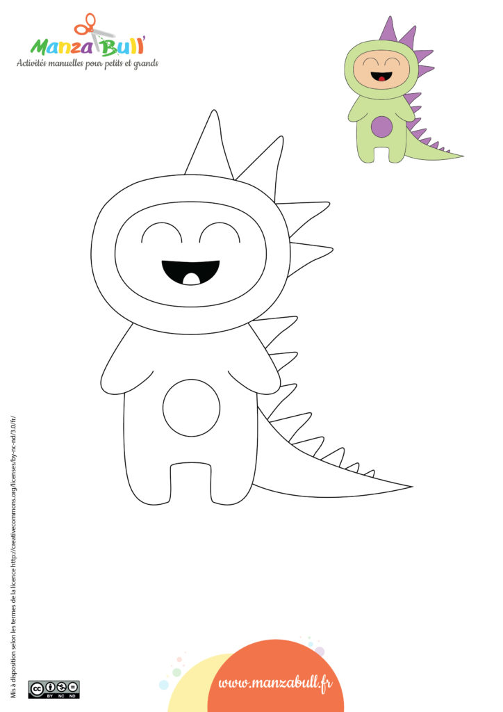 Coloriages halloween : le dinosaure