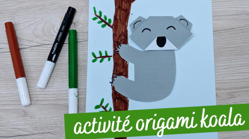 Activité origami koala