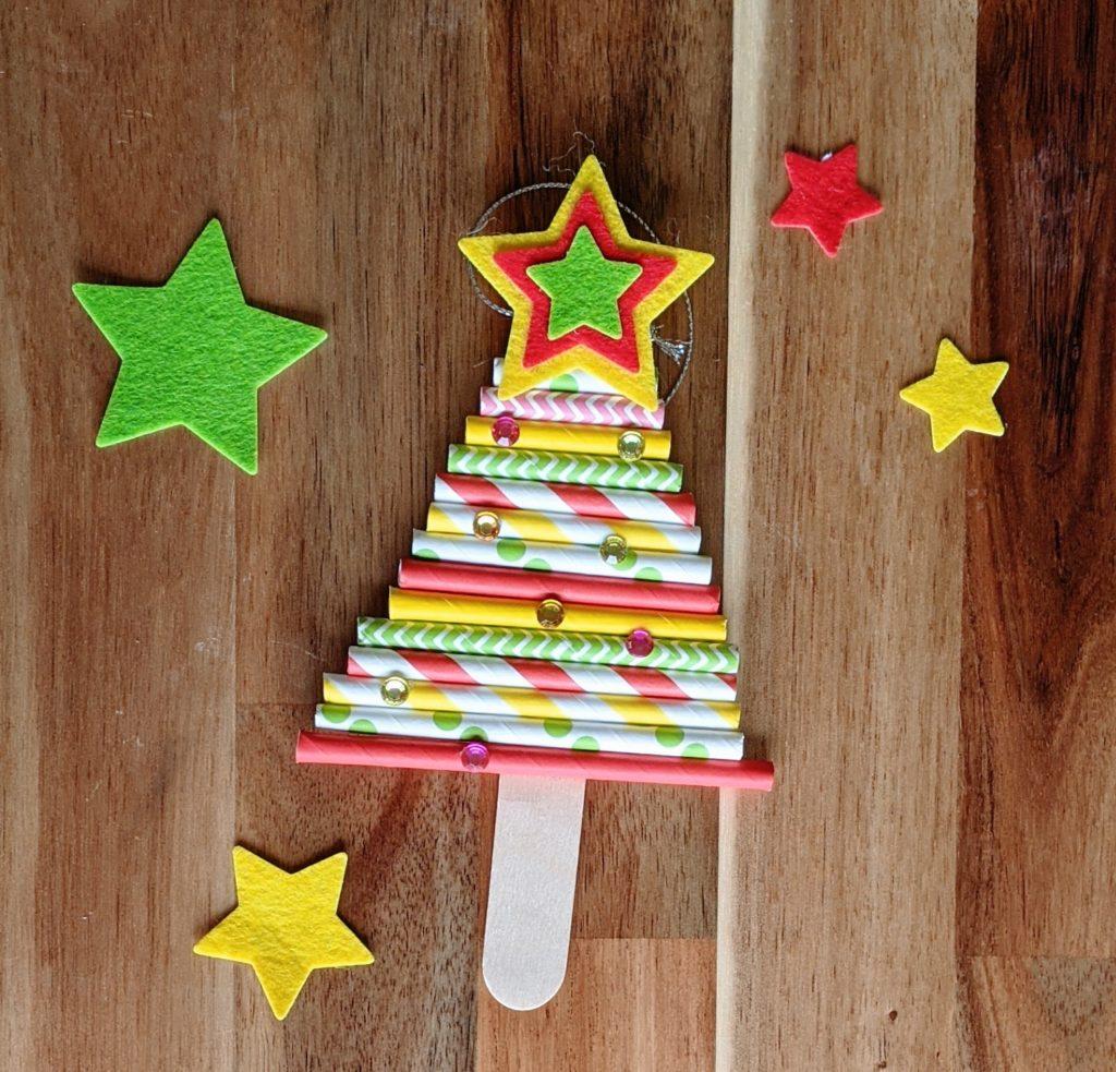 DIY Noël décoration de sapin : la sapin en pailles