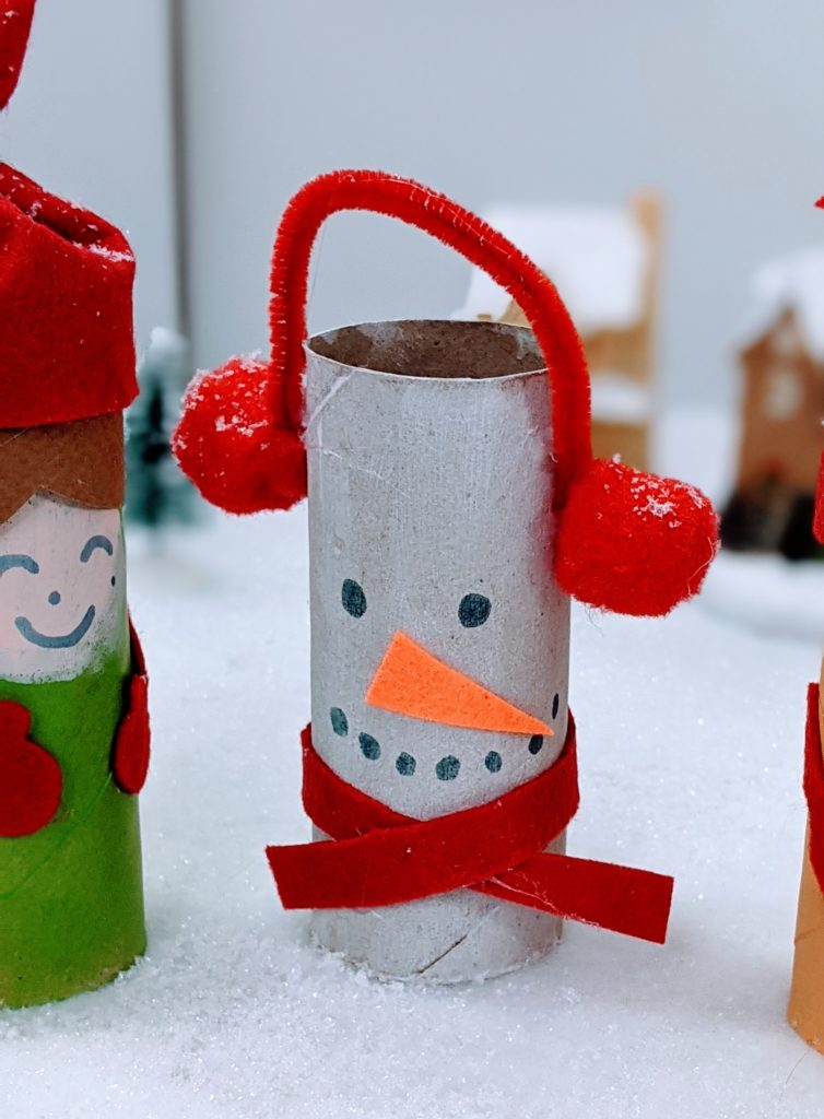 bonhomme de neige rouleau pq