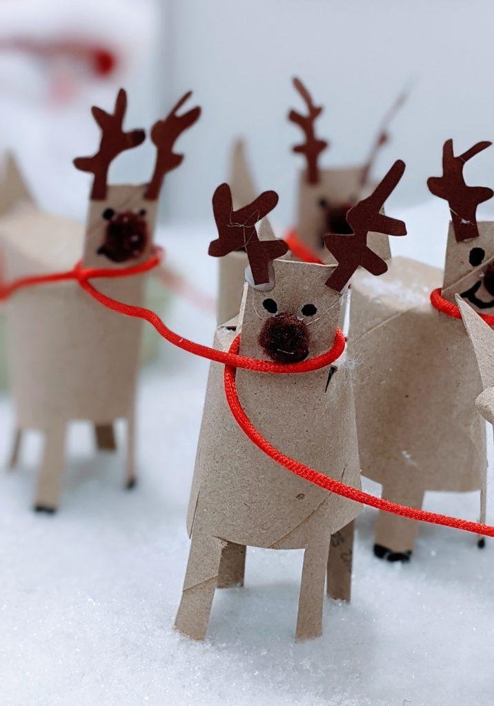 Décor de Noel en rouleau de papier toilette : renne