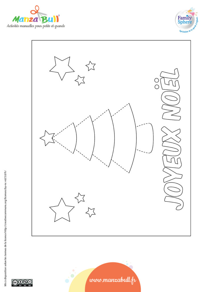 Carte de Noël sapin 3D