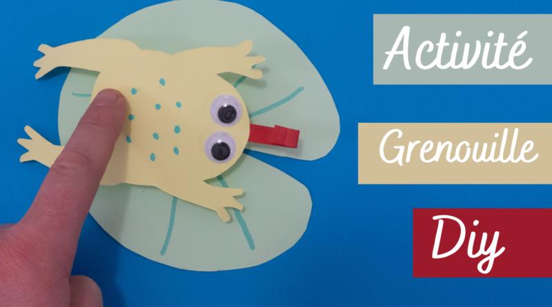 Activité manuelle : grenouille en papier