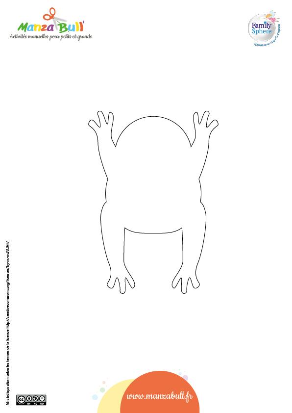 patron grenouille - Activité manuelle : grenouille en papier