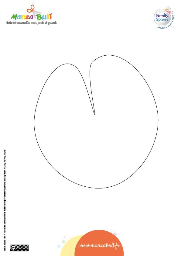 Patron nénuphar - Activité manuelle : grenouille en papier