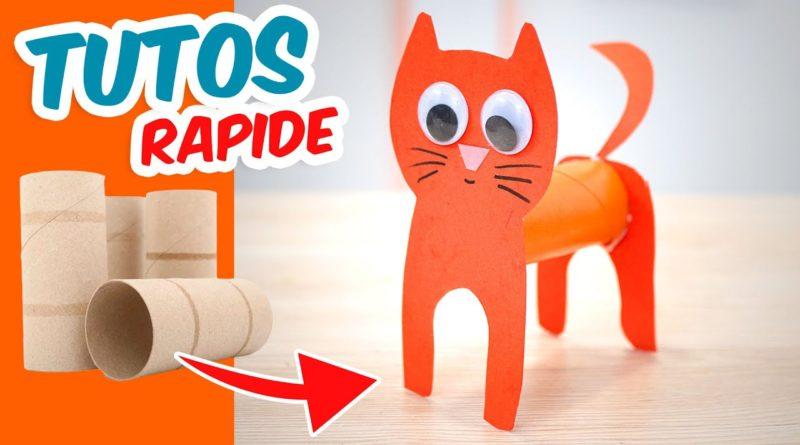 Activité manuelle : faire un chat avec un rouleau en carton