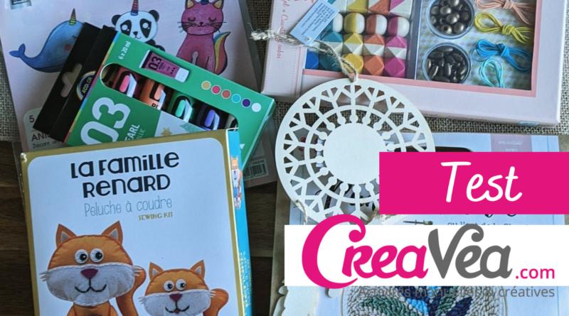 Je teste les kits créatifs Creavea