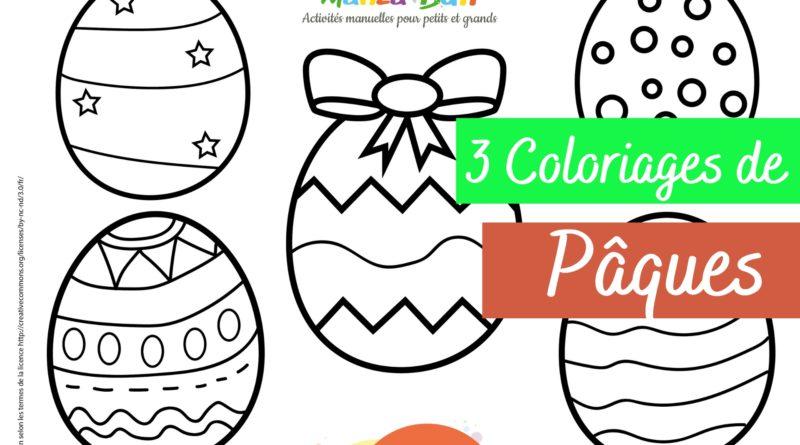 3 Coloriages de Pâques à imprimer