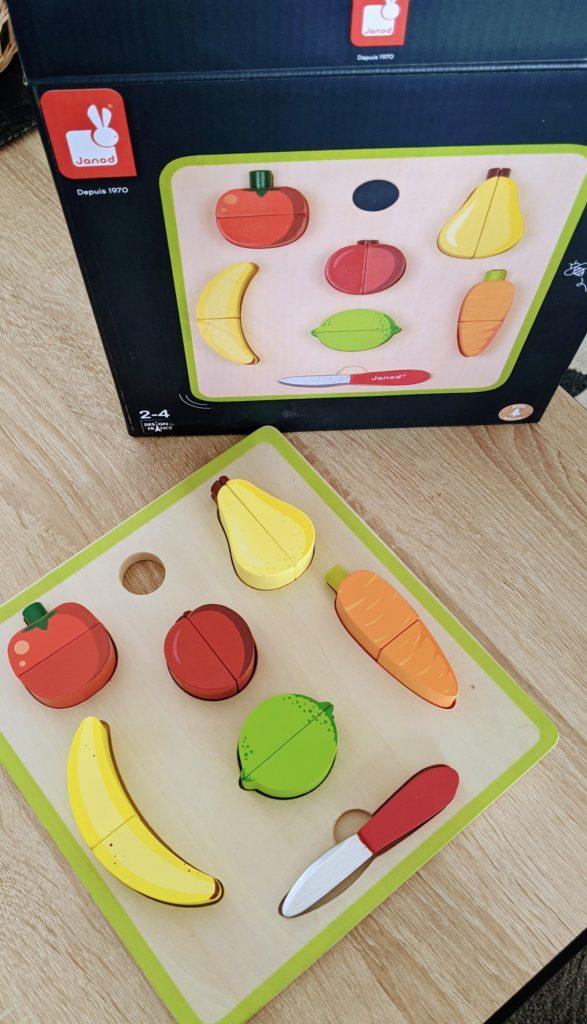 puzzle fruits et légumes en bois