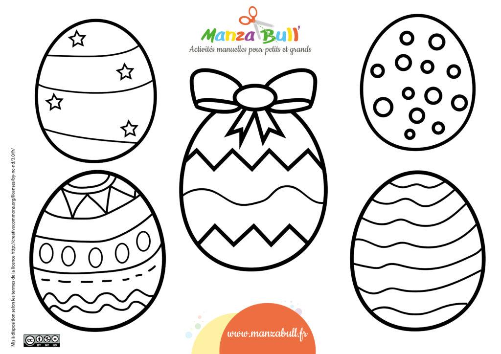 coloriage œufs de Pâques