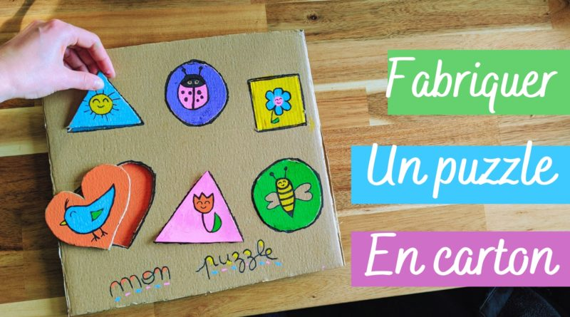 Comment fabriquer un puzzle Montessori en carton