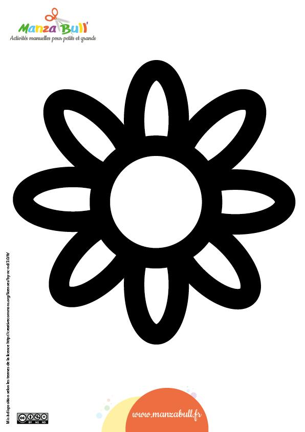 patron fleur papier vitrail vitraux