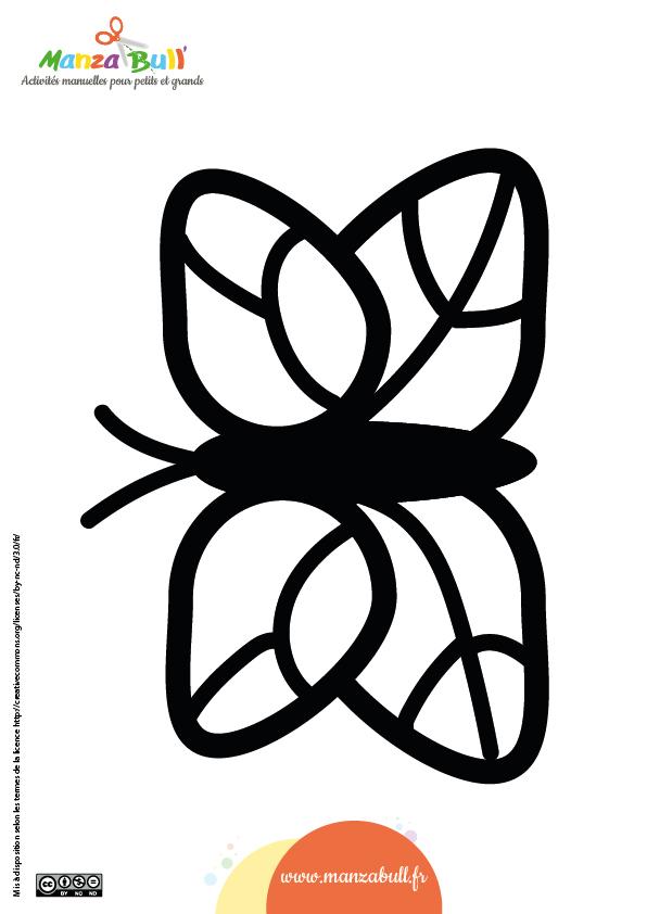 patron papillon papier vitrail  vitraux