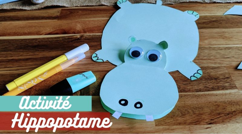hippopotame papier