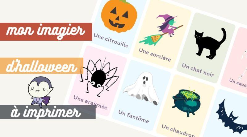Imagier Montessori d'Halloween à imprimer gratuitement