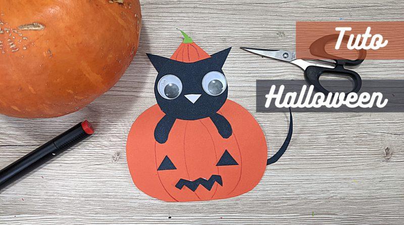 Tuto Halloween : Paper Craft citrouille et chat noir kawaii