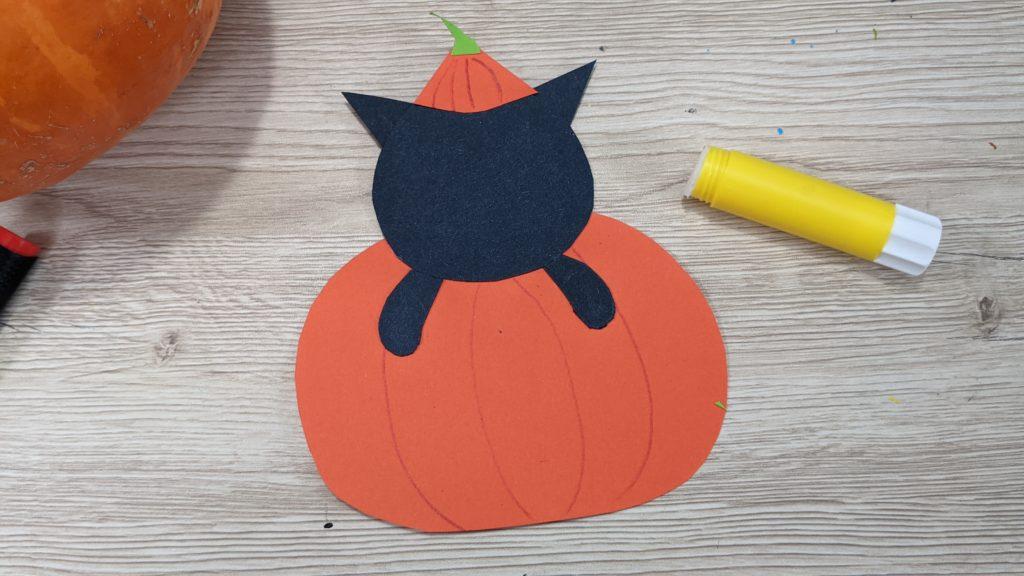 Paper Craft citrouille et chat noir kawaii