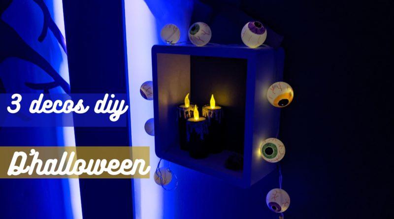 3 déco d'halloween facile à faire soi même