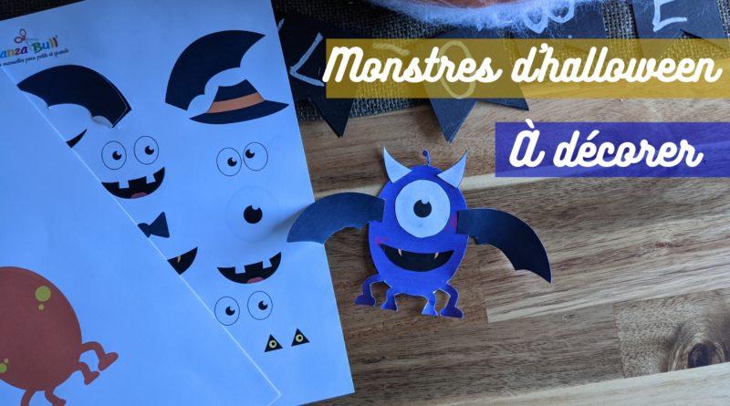 Activité manuelle d'halloween : monstres à décorer