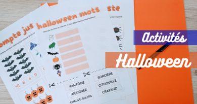 Fiches d'activités spéciales halloween